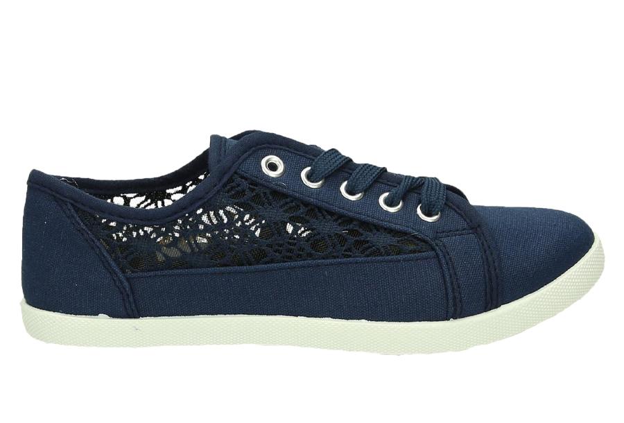 Lace sneakers Maat 37 - Blauw
