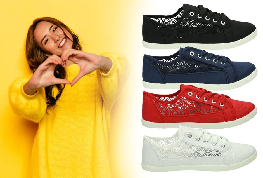 Lace sneakers super voordelig <br/>EUR 12.99 <br/> <a href='https://tc.tradetracker.net/?c=24550&m=1018105&a=230468&u=https%3A%2F%2Fwww.vouchervandaag.nl%2Flace-sneakers-sale' target='_blank'>bekijk product</a>