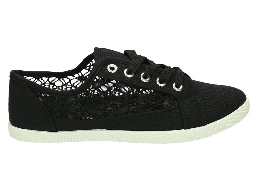 Lace sneakers Maat 41 - Zwart