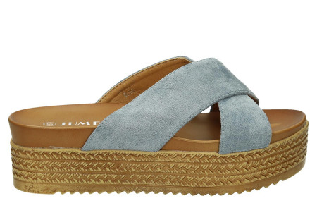 Criss Cross sandalen voor dames   Trendy slippers met gekruiste bandjes en plateauzool blauw