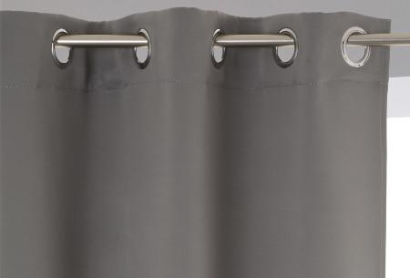 Set van 2 verduisterende gordijnen | Kant-en-klaar verduisteringsgordijnen met ringen