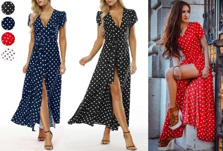 Polkadot maxi jurk | Zomerse lange jurk met stippen voor een elegante look