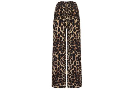 Dierenprint flared broek | Trendy, vrouwelijk & stijlvol  luipaard