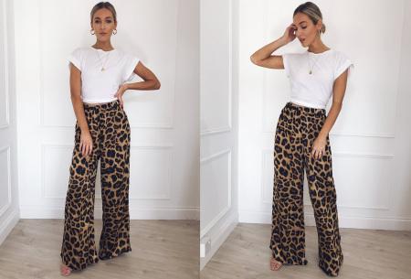Dierenprint flared broek | Trendy, vrouwelijk & stijlvol