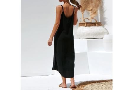 Basic maxi dress | Lange stretchy zomerjurk met spaghettibandjes