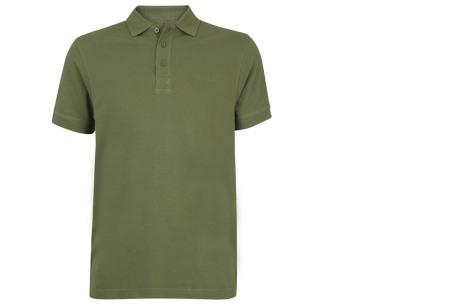 Pierre Cardin herenpolo's | Topkwaliteit poloshirts van volledig katoen - Extra afgeprijsd, OP=OP legergroen