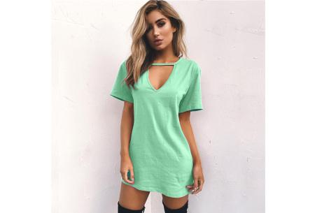 V-neck jurk | Trendy zomerjurk in maar liefst 11 kleuren lichtgroen