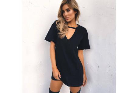 V-neck jurk | Trendy zomerjurk in maar liefst 11 kleuren zwart