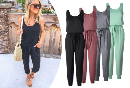 Stretchy jumpsuit met korting in de sale