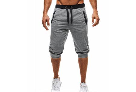Heren joggingshort | Heerlijke korte broek om in te relaxen of sporten lichtgrijs
