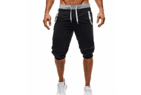 Heren joggingshort | Heerlijke korte broek om in te relaxen of sporten zwart
