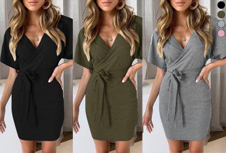 Wrap dress met korting in de uitverkoop