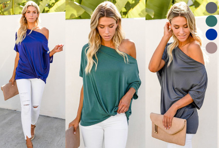 Off shoulder shirt nu heel goedkoop in de sale