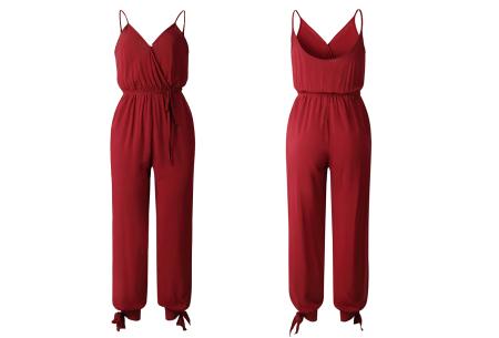 Zomerse jumpsuit | Trendy broekpak voor dames in 8 kleuren Rood