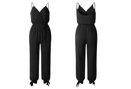 Zomerse jumpsuit | Trendy broekpak voor dames in 8 kleuren Zwart
