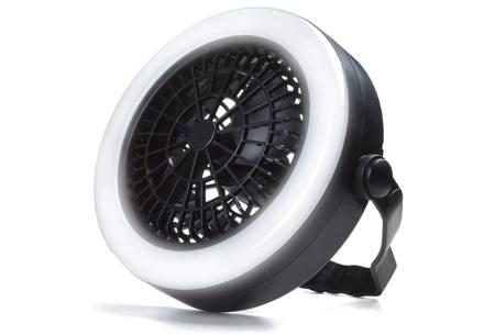 Benson ventilator met LED verlichting   Handige ventilator lamp voor plafond of (party)tent