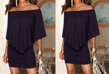 Off shoulder jurk | Voor een chique look met een sexy twist donkerpaars