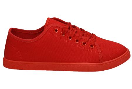 Basic dames sneakers | Een musthave schoen voor iedere dame Rood