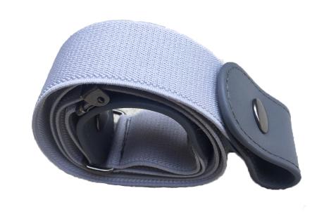 Gespvrije elastische riem | Super handige unisex riem in 6 kleuren! Grijs