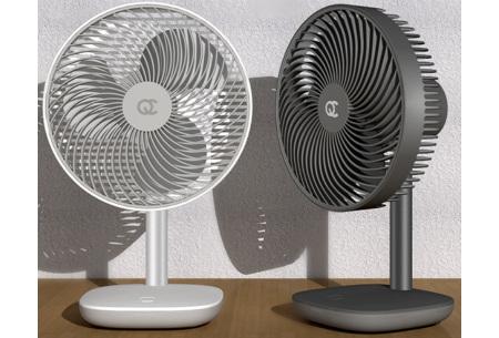 Draadloze ventilator | Overal verkoeling met 4 verschillende windsnelheden
