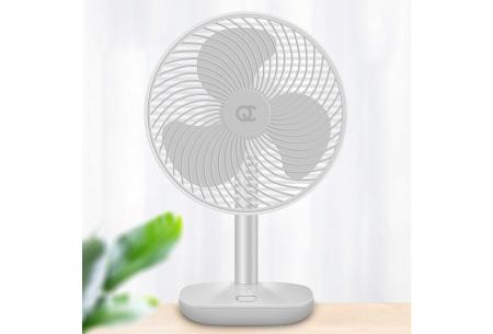 Draadloze ventilator | Overal verkoeling met 4 verschillende windsnelheden  wit