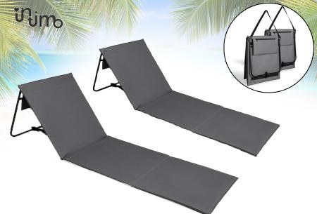 Set van 2 vouwbare strandbedden voor een spotprijs