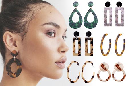 Shape oorbellen met korting