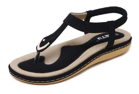 Comfy slippers   Trendy teenslipper voor dames Zwart