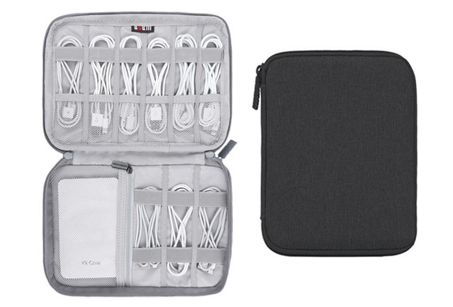 Reistasje voor kabels en gadgets Double S - zwart