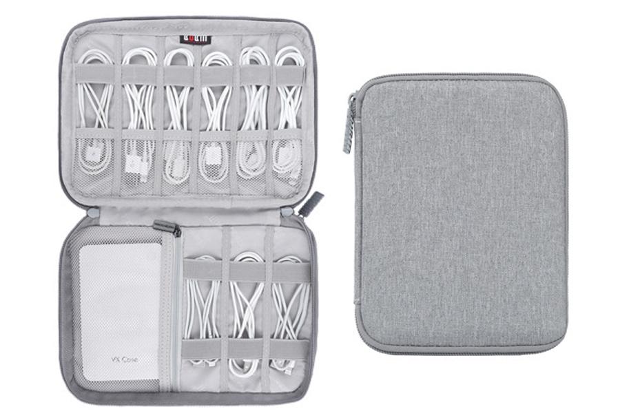 Reistasje voor kabels en gadgets Double S - grijs
