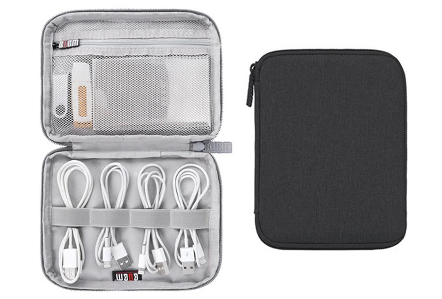 Reistasje voor kabels en gadgets Mini monolayer - zwart