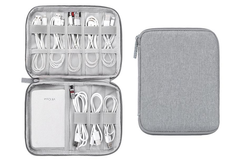 Reistasje voor kabels en gadgets Monolayer - grijs