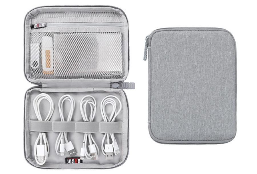 Reistasje voor kabels en gadgets Mini monolayer - grijs