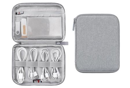 Reistasje voor kabels en gadgets | Orden al je elektronica in deze handige organizer Mini monolayer - grijs