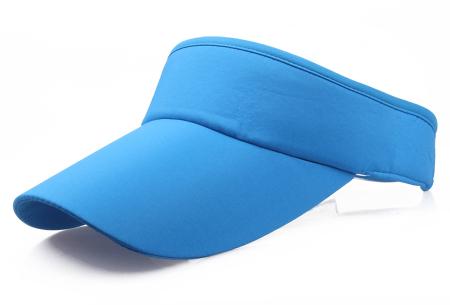 Zonneklep | Bescherm je ogen en gezicht tegen de zon - Keuze uit 11 kleuren Blauw