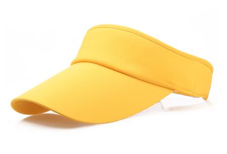Zonneklep | Bescherm je ogen en gezicht tegen de zon - Keuze uit 11 kleuren Geel