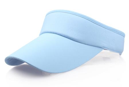Zonneklep | Bescherm je ogen en gezicht tegen de zon - Keuze uit 11 kleuren Lichtblauw