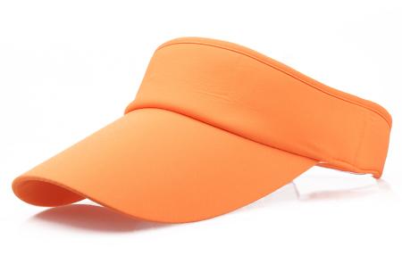 Zonneklep | Bescherm je ogen en gezicht tegen de zon - Keuze uit 11 kleuren Oranje