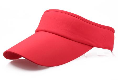 Zonneklep | Bescherm je ogen en gezicht tegen de zon - Keuze uit 11 kleuren Rood