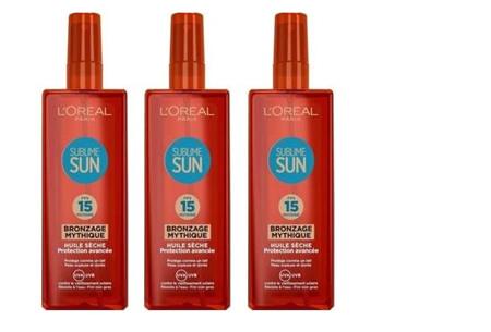 Zonnebrandcrèmes van L'Oréal & Garnier Ambre Solaire - set van 3 of 4 stuks in de aanbieding 3x L'Oréal f15