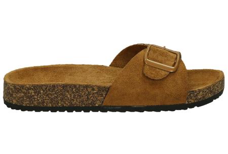 Suède look slippers | Hippe slippers met comfortabel & zacht voetbed - in 6 leuke kleuren Camel