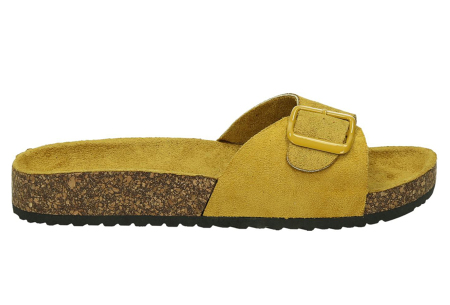 Suède look slippers | Hippe slippers met comfortabel & zacht voetbed - in 6 leuke kleuren Geel