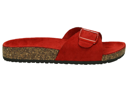 Suède look slippers | Hippe slippers met comfortabel & zacht voetbed - in 6 leuke kleuren Rood