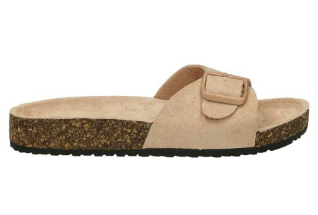 Suède look slippers | Hippe slippers met comfortabel & zacht voetbed - in 6 leuke kleuren Roze