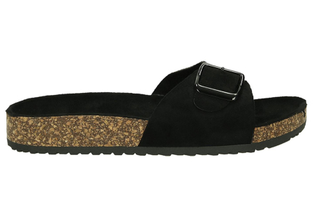 Suède look slippers | Hippe slippers met comfortabel & zacht voetbed - in 6 leuke kleuren zwart