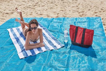 Zandvrij strandlaken | Nooit meer zand op je handdoek!