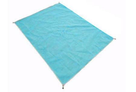 Zandvrij strandlaken | Nooit meer zand op je handdoek! blauw