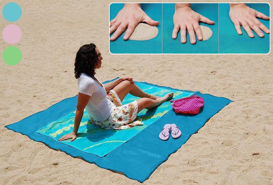 Zandvrij strandlaken met hoge korting