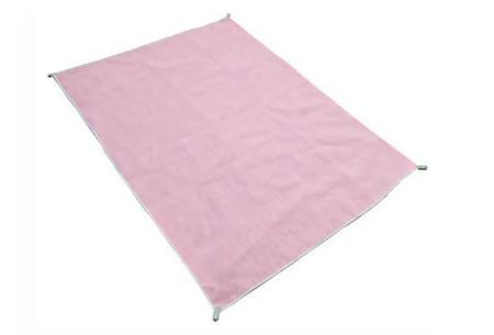 Zandvrij strandlaken | Nooit meer zand op je handdoek! roze