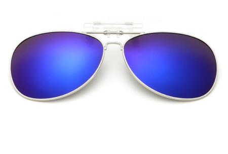 Clip-on aviator zonnebril | Van gewone bril naar zonnebril dankzij handig clipsysteem blauw
